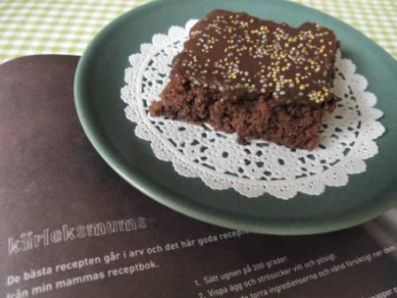 kärleksmums med chokladbitar