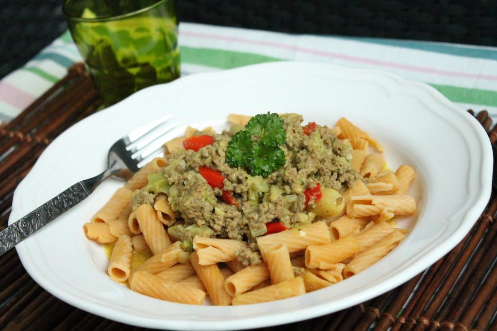 köttfärsgryta curry broccoli paprika