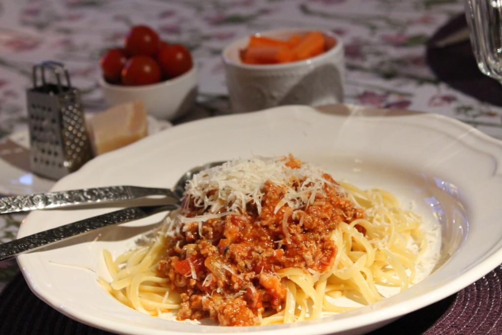 pasta bolognese köttfärssås
