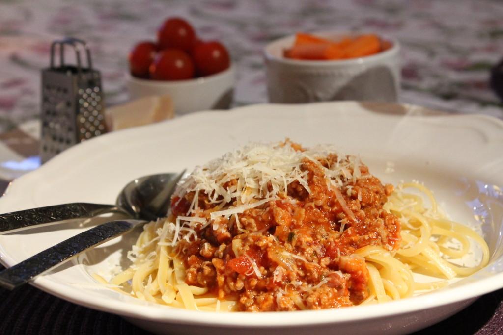 pasta bolognese köttfärssås vardagsmat
