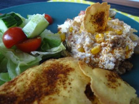 Hemmagjorda majschips och tacogratäng