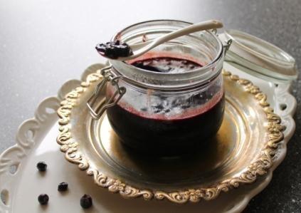 Blåbärsmarmelad med vaniljton