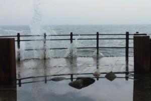 Vågor vid Smygehuk