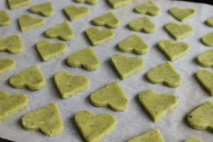 En plåt full av grön kärlek