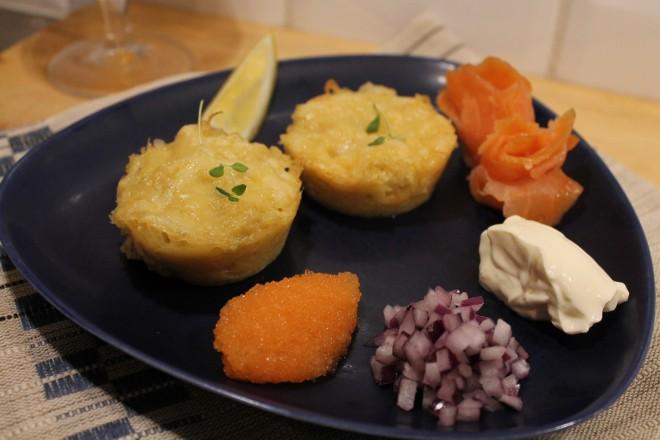 paltmuffins-löjrom-västerbottensost-kallrökt lax