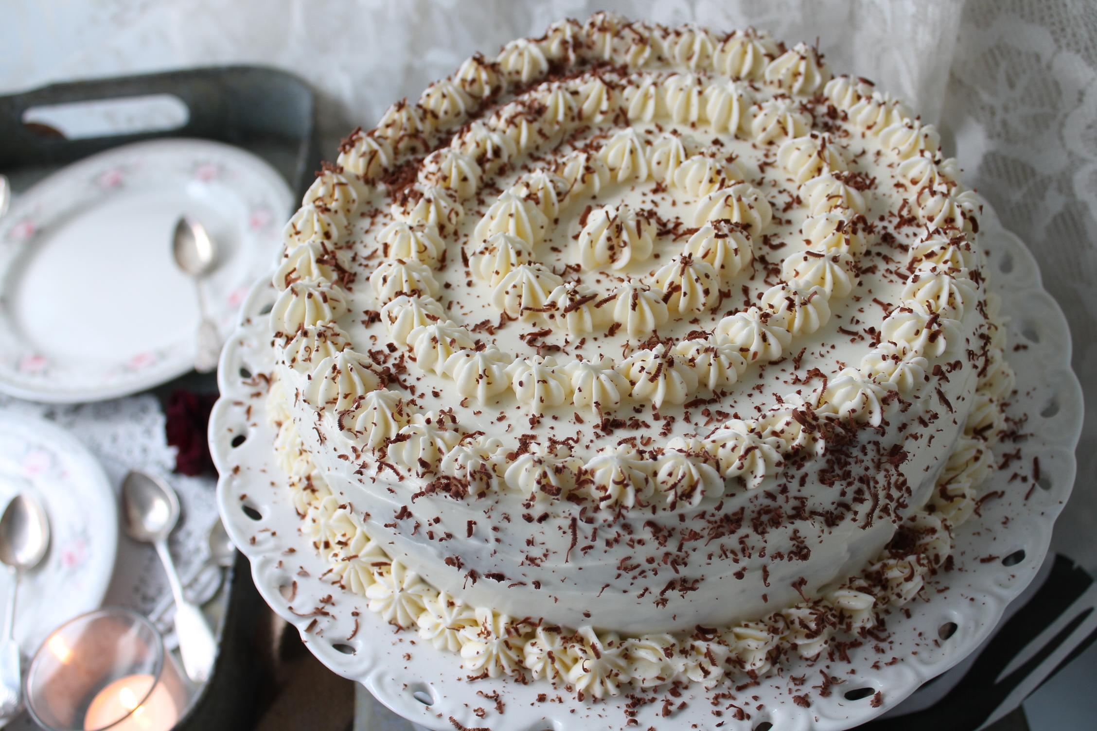 chokladtårta frosting guinness