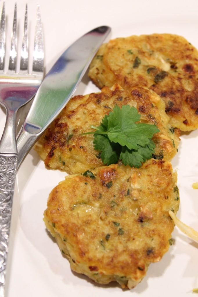 vegetariska potatisplättar thailändska