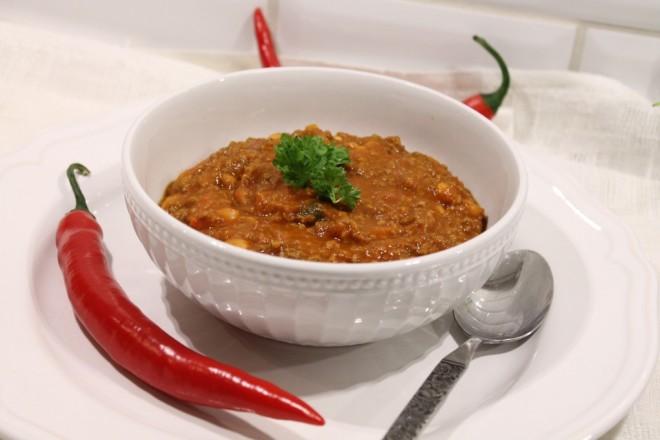 chili con carne nötfärs röd chili