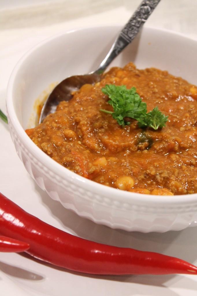 chili con carne nötfärs vita bönor