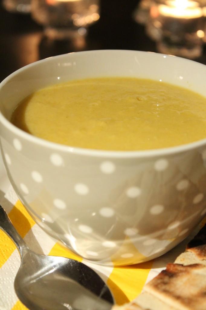 vegetarisk soppa majs