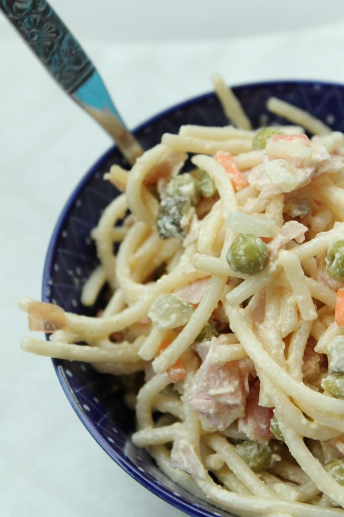 krämig pastasallad italiensk sallad finland