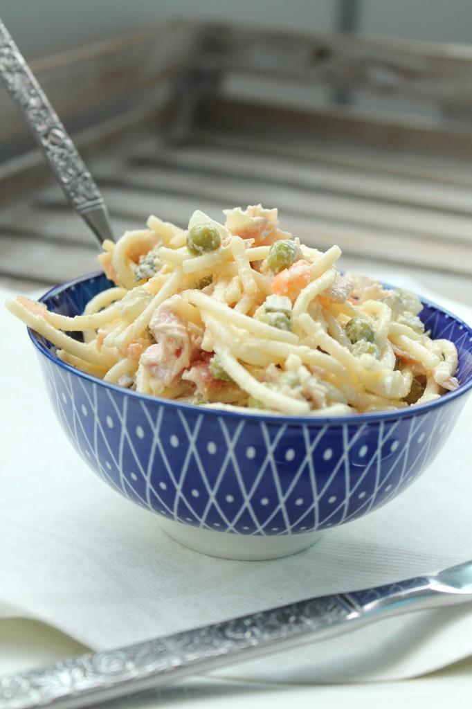 finsk italiensk sallad spaghetti