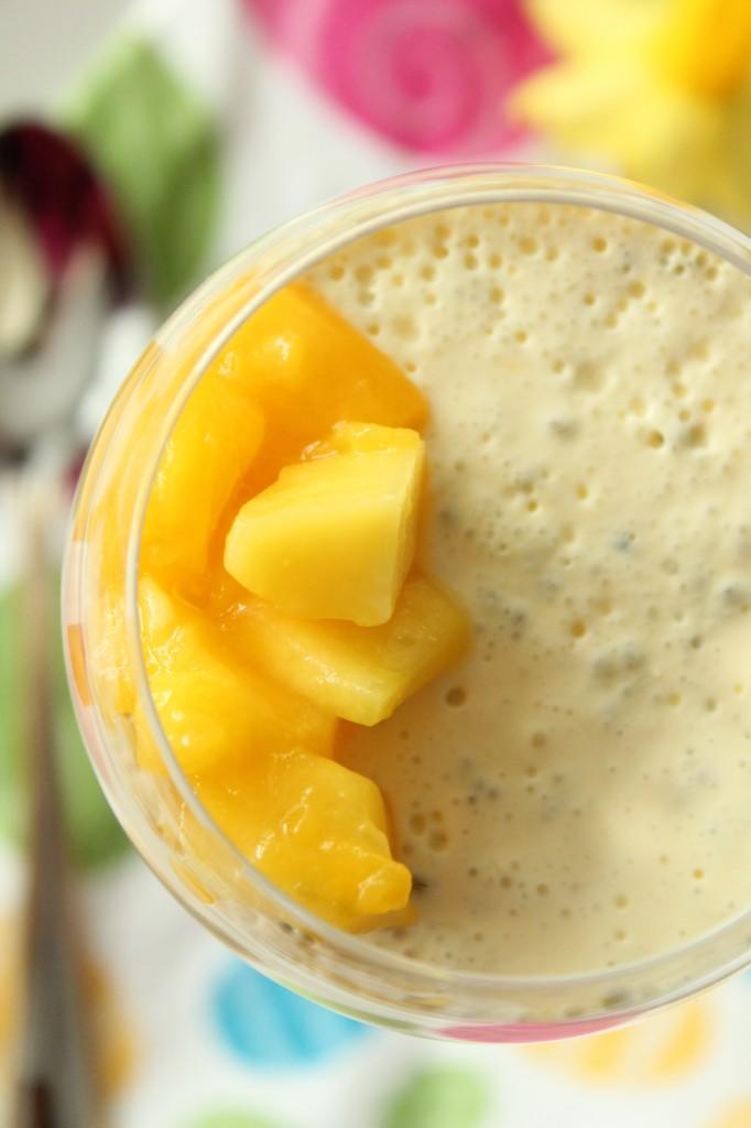 pannacotta mango chiafrön frukost dessert sockerfri
