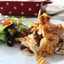chipsgratäng pepparchips köttfärs fredagsmys sallad