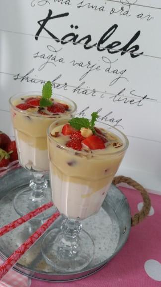 efterrätt vit choklad västerbottensost turkisk yoghurt