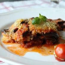 melanzane alla parmigiana pesto-färskostfyllda cocktailtomater