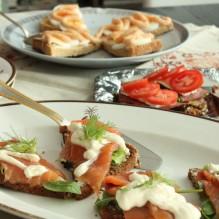 veneziansk smörgåsbord snittar på farfars vis