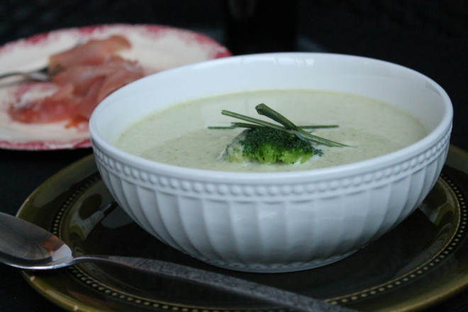 broccolisoppa fryst broccoli purjolök vitlök