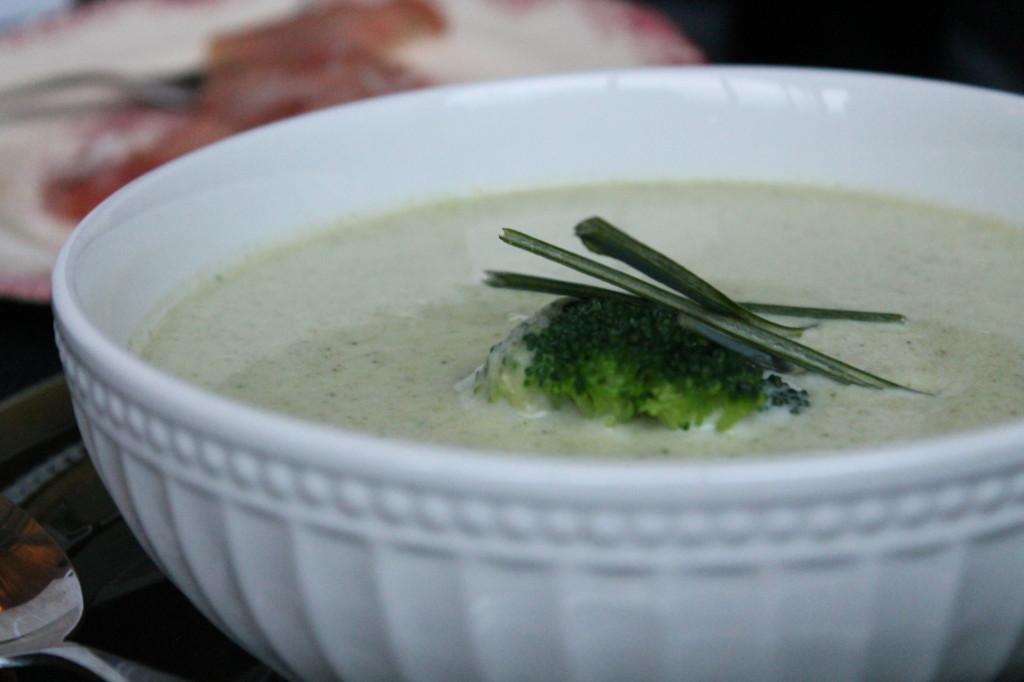 broccolisoppa purjolök vitlök fryst broccoli