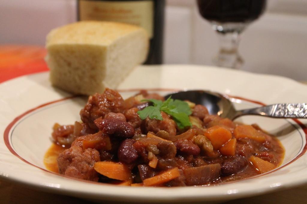 italiensk gryta korv salsiccia lättlagad