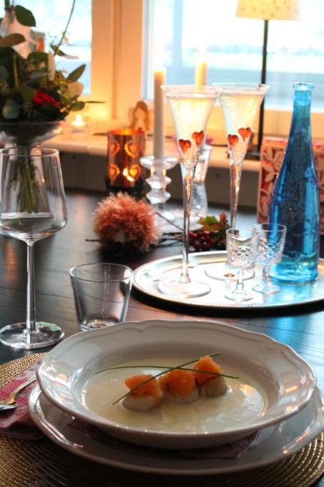 halstrade pilgrimsmusslor champagneskum löjrom moët & chandon bröllopsdag