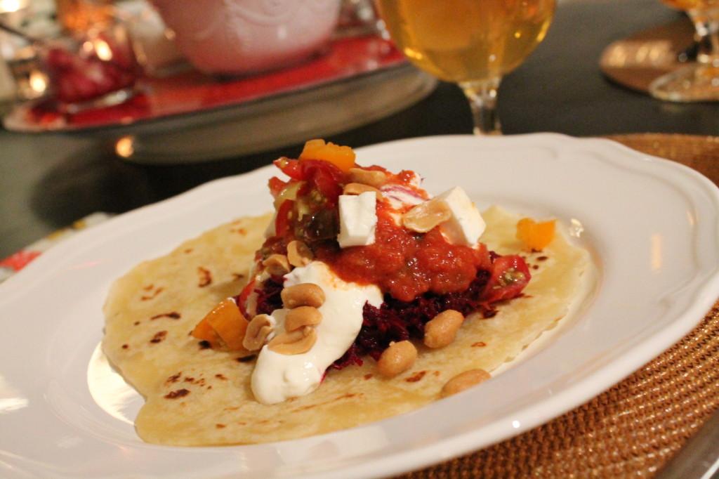 rödbetstacos fredagsmys vegetarisk tacos tillbehör
