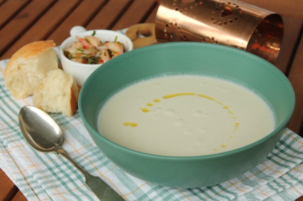 jordärtskockssoppa chiliräkor vegetarisk soppa