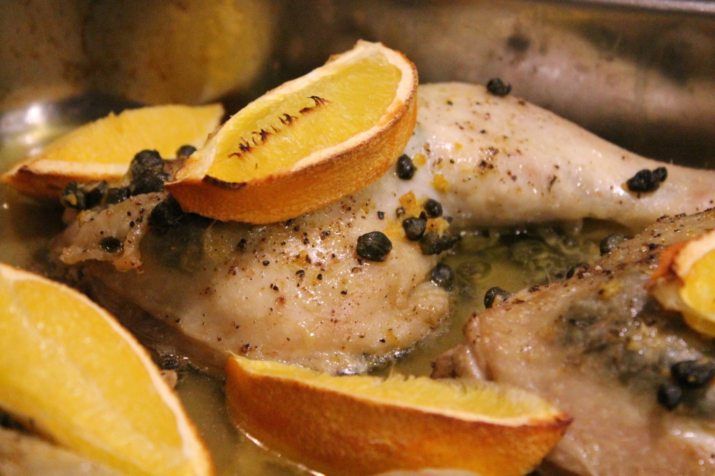 kycklingklubbor kapris apelsin ugnsstekta
