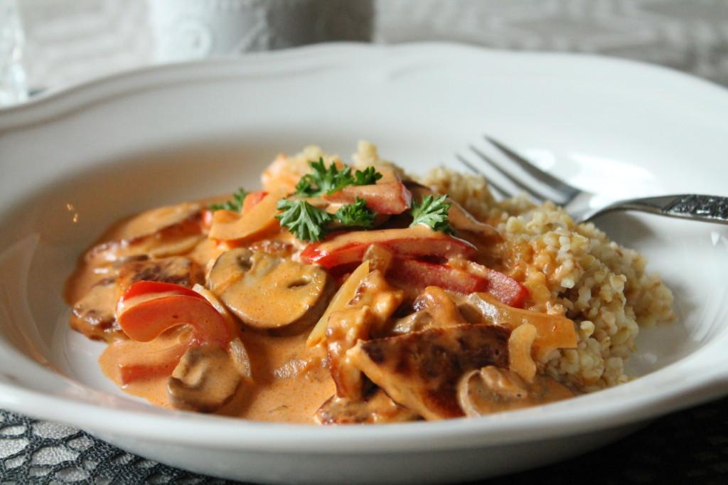 vegetarisk stroganoff recept
