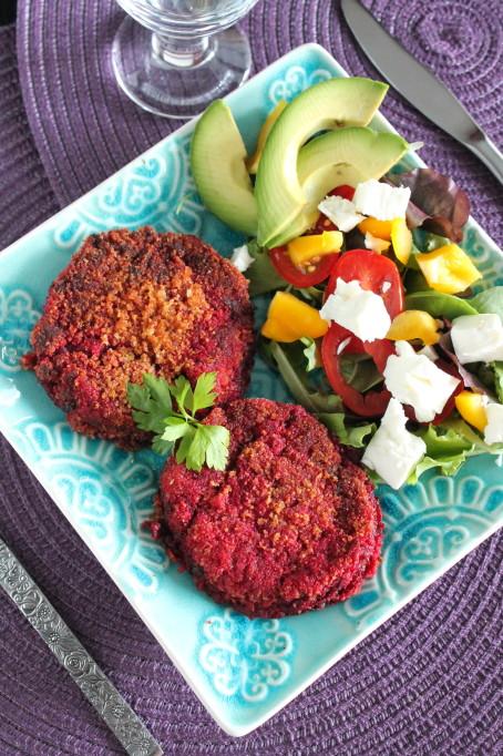 vegetarisk lindströms biff rödbetsbiff