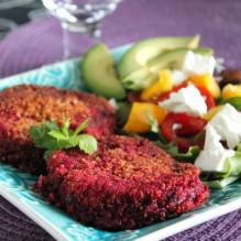 vegetarisk biff á la lindström rödbetsbiffar vegetariska lindströmsbiffar