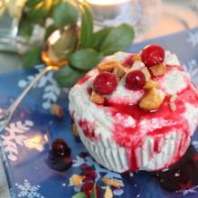 plommonparfait lingonsås plommonmarmelad dessert jul finlands självständighetsdag