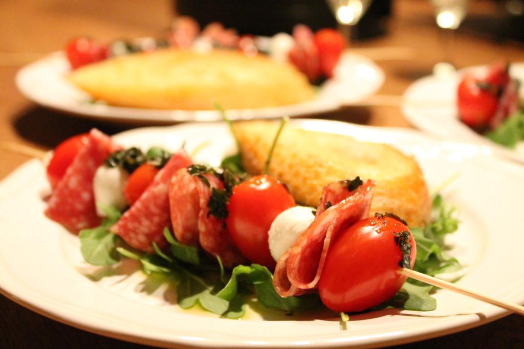 insalata caprese sallad förrätt grillspett