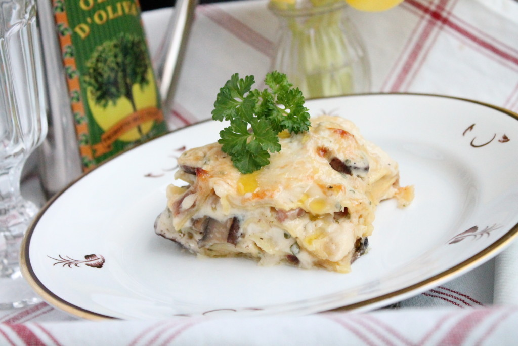 vincisgrassi lasagne marche italien tryffel svamp parmaskinka