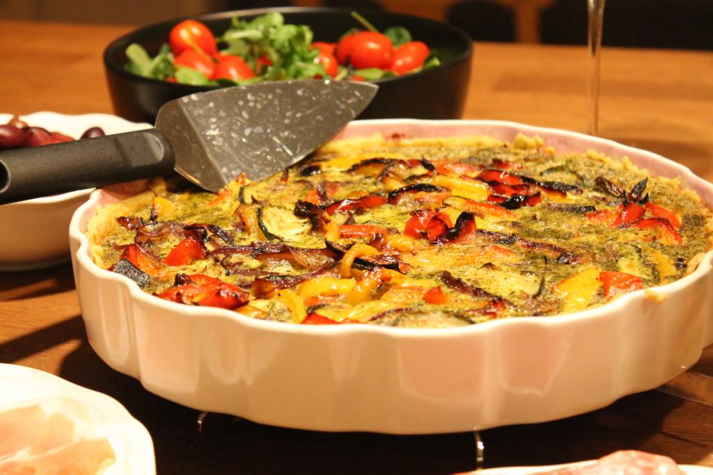 pestopaj ugnsbakade grönsaker
