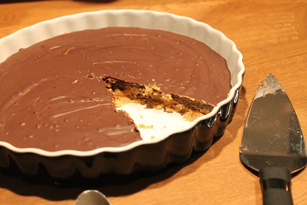 chokladpaj karamelliserad mjölk kola digestivekex baka utan ugn