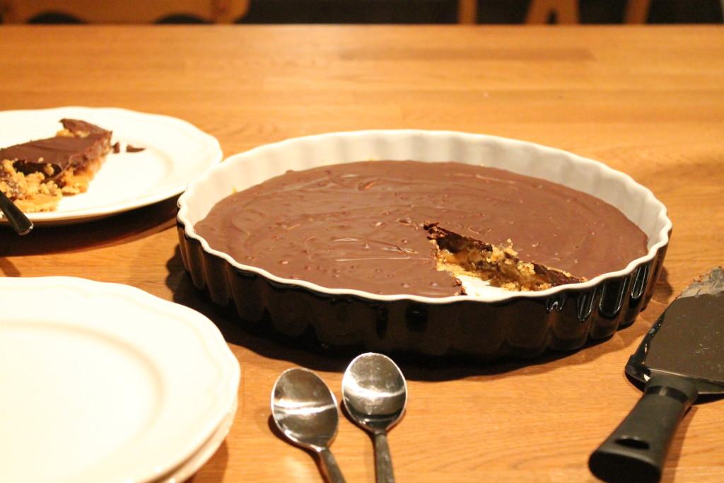 chokladpaj karamelliserad mjölk digestive baka utan ugn