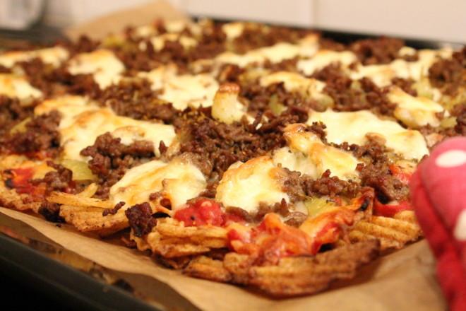 chipspizza köttfärs nötfärs svartpepparchips fredagsmys