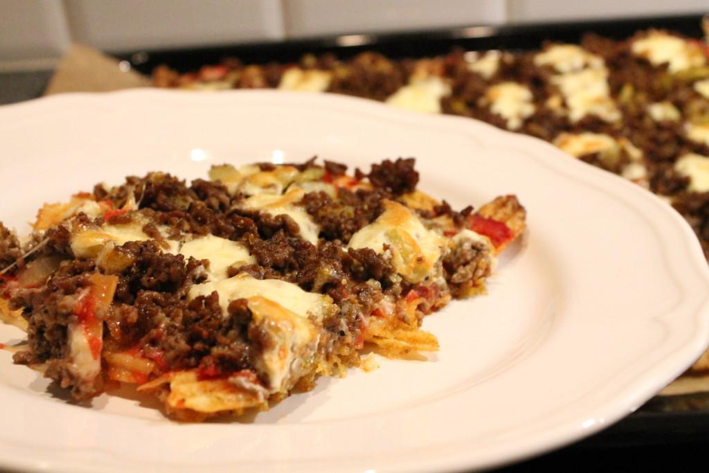 chipspizza köttfärs svartpepparchips
