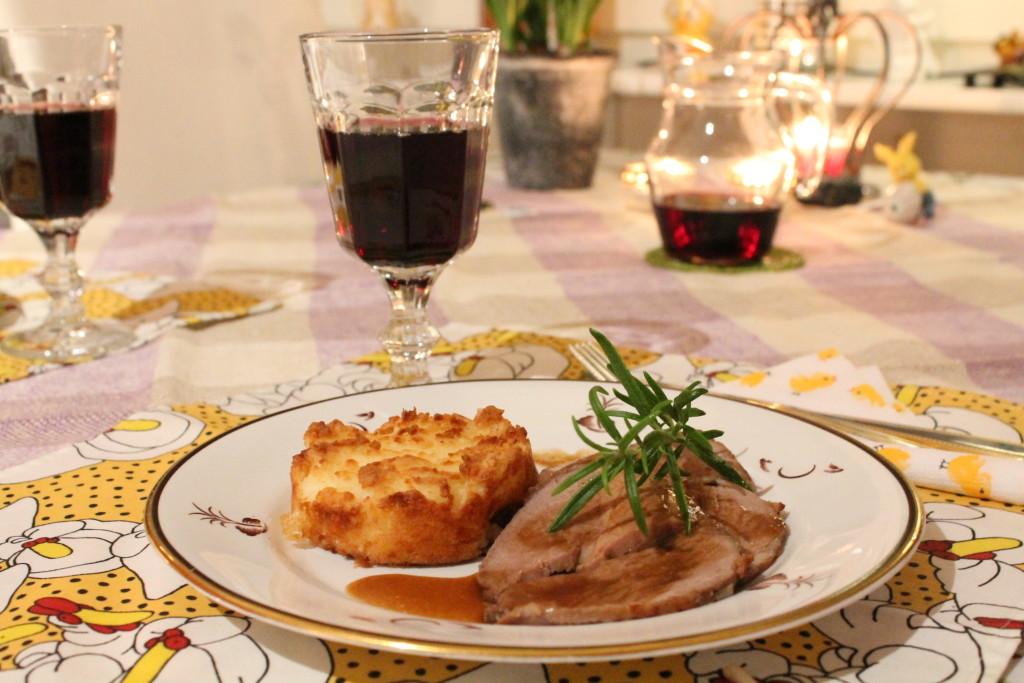 potatisbakelse enkel fetaost påsk lammstek rosmarin