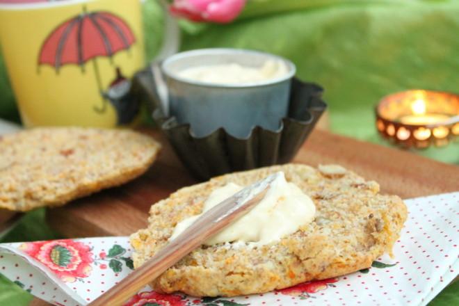 scones bakpulverbröd morot mandel påsk frukost