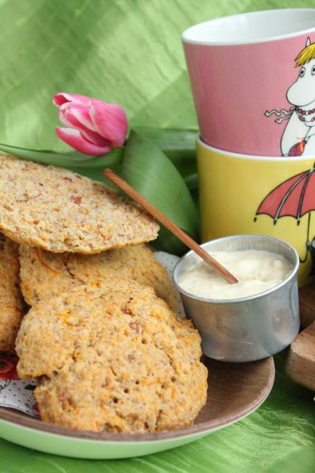 scones  morot mandel påsk frukost bakpulverbröd