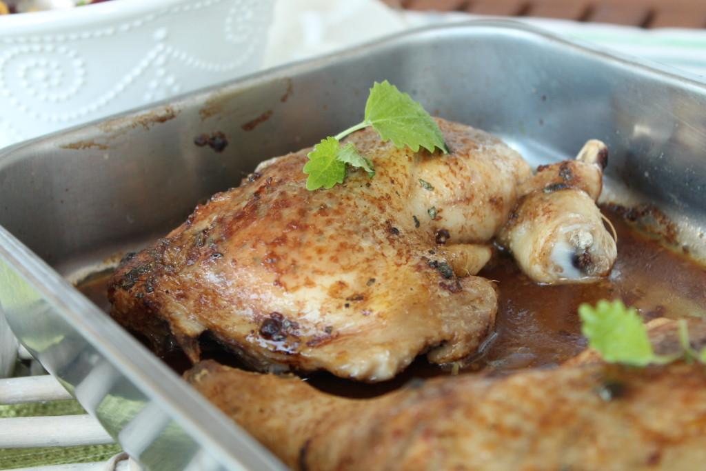 kycklingklubbor ugn vardagsmat citronmeliss ingefärapulver