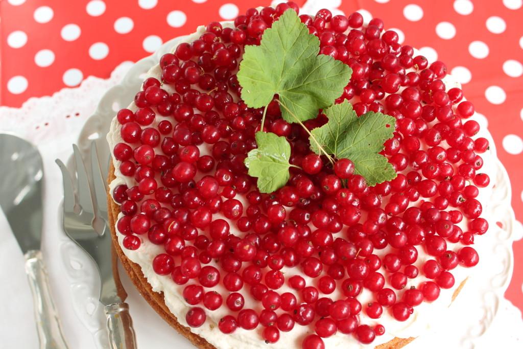 röda vinbär kaka kanel kardemumma topping