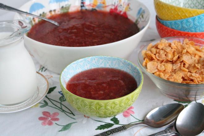 plommonkräm färska plommon vaniljpulver rårörsocker potatismjöl mellanmål kvällsfika frukost efterrätt dessert