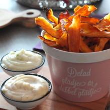 sötpotatischips sötpotatis limeaioli tryffelmajonnäs tilltugg höstmiddag batat batatchips