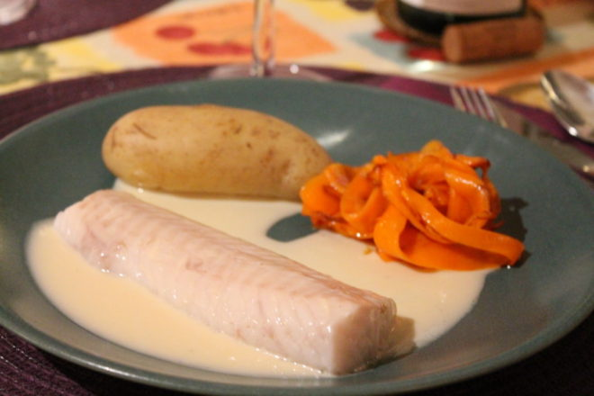 torskrygg chablissås chablis fransk mat sauce creme au chablis