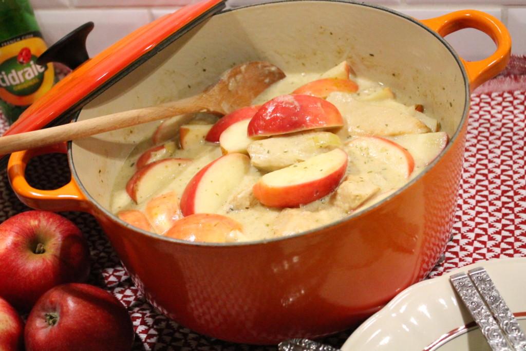 kycklinggryta höstgryta höst dragon äppelcider äpple