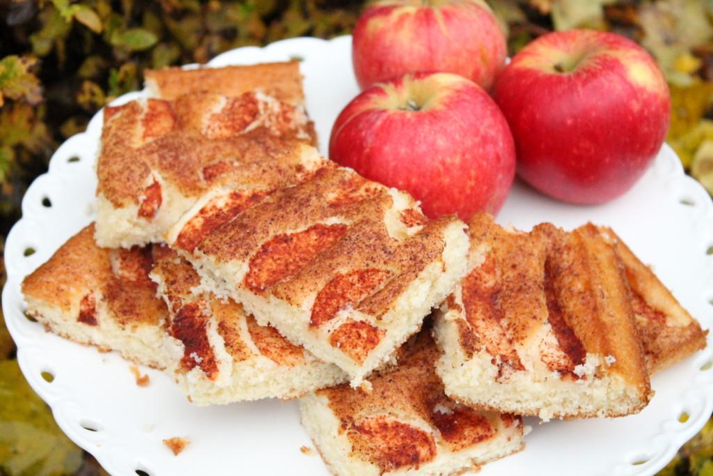 ritas äppelkaka långpanna äpplen kanel höst