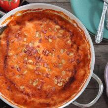 simmande jakob lax bacon salta jordnötter banan chilisås vispgrädde vitlök